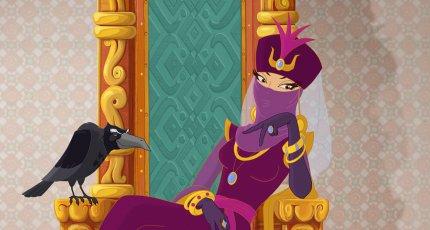 Кадр из мультфильма «Три богатыря и Шамаханская царица»