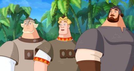 Кадр из мультфильма «Три богатыря на дальних берегах»