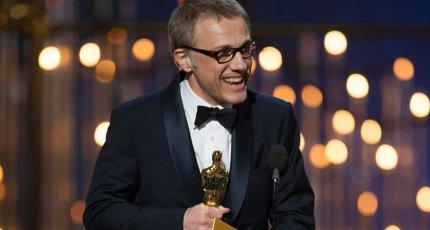 Кристоф Вальц на церемонии вручения премии «Оскар – 2013»