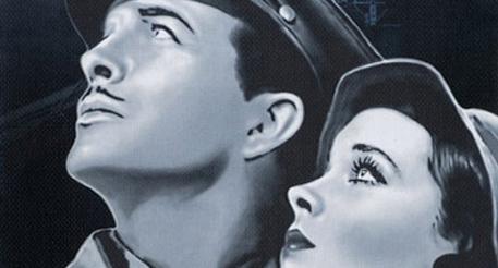 """Кадр из кинофильма """"Мост Ватерлоо"""", 1940г."""